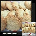 recette CROQUANTS DE CORDES