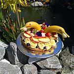 recette Gâteau  dauphins  aux fruits frais   ......