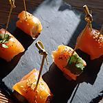 recette Oeuf de caille saumon wasabi