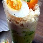 recette Avocat crabe oeuf de caille
