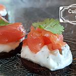 recette Toasts saumon tsatsiki maison
