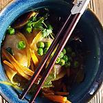 recette Ravioles de foie gras dans un bouillon asiatique, délicieux !!!!