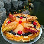 recette Tarte aux fruits ... douceur au yaourt  grecque & Fromage blanc aux framboises