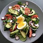recette Salade de mâche avocat oeuf mollet