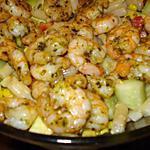 recette Salade de crevettes et concombre