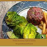 recette Tartare de bœuf, coupé au couteau, relevé