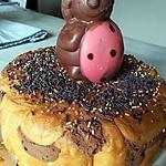 "recette Charlotte au chocolat ""Happy Easter"""