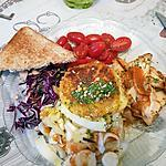 recette Salade au st Marcelin pané