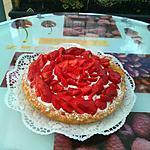 recette Tarte légère  gourmande à la crème fouettée  fraises