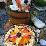 """recette """"    Tarte bonheur    """" aux fruits frais"""