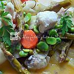 recette Blanquette de lotte aux petits légumes nouveaux