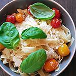 recette Tagliatelles maison ,tomates-basilic-parmesan , il en faut peu pour se faire plaisir !..