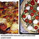 recette tarte mozzarella - tomates au basilic et moutarde