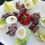 recette salade aux foie de volailles confit