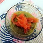 recette verrines d'asperges vertes au fromage blanc et saumon fumé