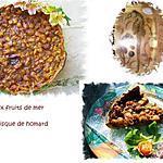 tarte aux fruits de mer et à la bisque de homard