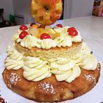 recette Gâteau  de l'amitié au cocktail de fruits & pommes