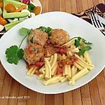 recette Boulettes de poulet au tofu, sauce express +