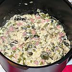 recette Risotto aux poireaux petits pois et jambon au Cookeo