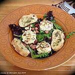 recette Chèvre chaud sur salade de poire +