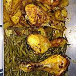recette Poulet pomme de terre et haricots verts