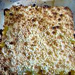 recette Crumble à la rhubarbe