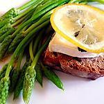 recette Tartine de chèvre chaud avec citron confit et asperges des bois