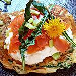 recette Blinis aux orties et pissenlits garnis de saumon fumé et tsatsiki