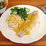 recette Filets de doré (sandre)  au cari doux +