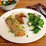 recette Pavés de saumon en croûte d'arachides +