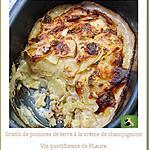 recette Gratin de pommes de terre à la crème de champignons