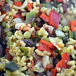 recette Riz au curcuma et aux haricots rouges