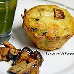 recette Muffin aux champignons des bois