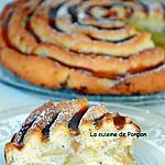 recette Gâteau moelleux aux pommes flambées et blancs d'oeufs