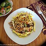 recette Macaroni aux champignons à la chinoise