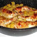 recette CUISSE DE POULET ET SES POMMES DE TERRE AU FOUR