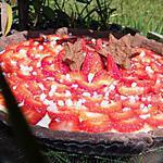 recette OooTarte pannacotta rhubarbe aux fraises ooO