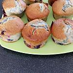 recette muffins aux fruits rouge chocolat praliné