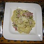 recette Tagliatelles au mascarpone et petits pois