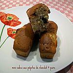 recette mini cakes aux pépites de chocolat & poire