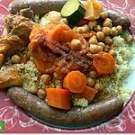 recette Couscous au poulet et merguez