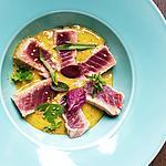 recette Tataki de thon sauce yakumi (du chef steph 18pts au gault et millau)