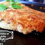 recette Galette quinoa pois chiches ananas coriandre gingembre ( plat complet vegan sucré-salé )