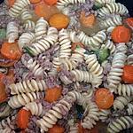 recette Pâtes aux courgettes/carottes/viande hachée AU COOKEO