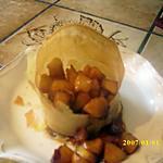 recette bricks d'ananas caramélisés