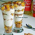 recette Verrine d'ananas flambé, crème mascarpone à l'acérola et spéculoos