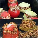 recette Pomme de terre et tomates farci au quinoa