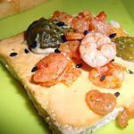 """recette Canapés aux """" Crevettes """""""