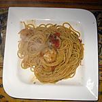 recette Spaghettis aux scampis