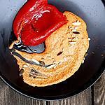 recette Houmous de poivrons grillés, haricots rouges et piment